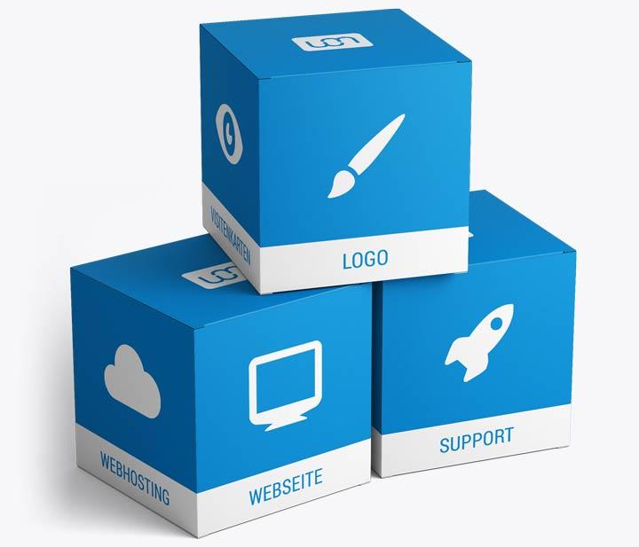 Webseiten Komplettpaket mit Logo und Webhosting